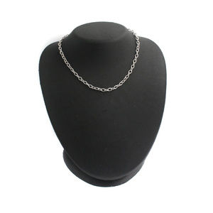 """White Gold Over Classic 14.7"""" Cable Chain Necklace"""